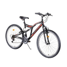 "Full-Suspension Bike Kreativ 2641 26"" – 2019 - Black"