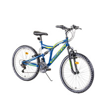"Full-Suspension Junior Bike Kreativ 2441 24"" – 2019 - Blue"
