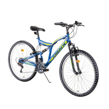 "Full-Suspension Bike Kreativ 2641 26"" – 2019 - Blue"