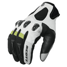 Motocross Gloves Scott Assault - Black-White