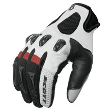 Motocross Gloves Scott Assault - Black-Red