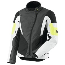Women's Motorcycle Jacket Scott Technit DP - Grey-Yellow