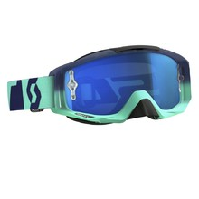 Moto Glasses SCOTT Tyrant MXVI - Oxide Turquoise-Blue-Electric Blue Chrome