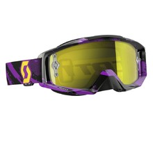 Moto Glasses SCOTT Tyrant MXVI - Zebra Purple-Yellow-Yellow Chrome