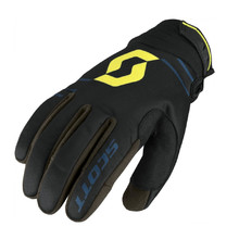 Motorcycle Gloves SCOTT 350 Insulated MXVII - Black-Lime Green