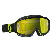 Motorcycle Goggles SCOTT Hustle MX CH MXVII - Black-Fluorescent Yellow-Yellow Chrome