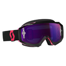 Motorcycle Goggles SCOTT Hustle MX CH MXVII - Black-Fluorescent Pink-Purple Chrome