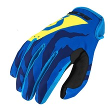Motorcycle/Cycling Gloves SCOTT 350 Race MXVII - Blue-Yellow
