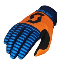 Moto Gloves SCOTT 350 Track MXVII - Blue-Orange