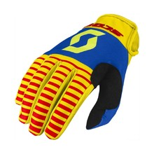 Moto Gloves SCOTT 350 Track MXVII - Yellow-Red