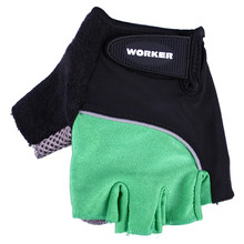 Cycling gloves, gym gloves WORKER S900 - Green