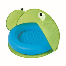 Paddling Pool with Sun Shade Bestway 97 x 97 cm - Green