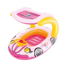 Inflatable Floating Boat Bestway Kiddie Car - Pink