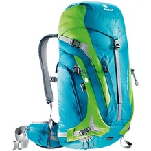 Tourist Backpack DEUTER ACT Trail PRO 34 - Blue-Green