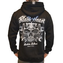 Hooded Sweatshirt BLACK HEART Trigger Zip - Black