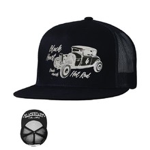 Snapback Hat BLACK HEART Coupe 32 Trucker - Black