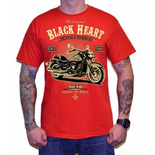 T-Shirt BLACK HEART Harley Red - Red