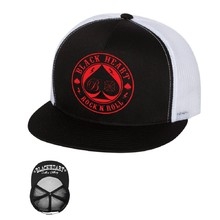Snapback Hat BLACK HEART Ace Of Spades Trucker - White