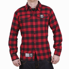 Long Sleeve Shirt BLACK HEART Redneck - Red