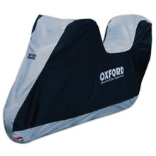 Motorcycle Cover with Suitcase Space Oxford Aquatex L
