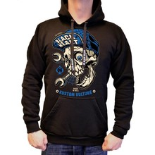 Hooded Sweatshirt BLACK HEART Mechanic Hood - Black