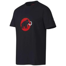 Men's Sports T-Shirt MAMMUT – Short Sleeve - Black with Red Logo