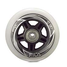 Inline Wheels FILA 80mm/82A with ABEC 5 Bearings, 6mm Spacer – 8 Pcs