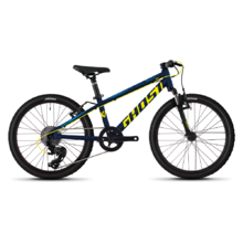 "Children's Bike Ghost Kato 2.0 AL 20"" – 2020 - Night Blue / Neon Yellow / Riot Blue"