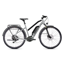 "Women's Trekking E-Bike Ghost Hybride Square Trekking B2.8 Ladies 28"" – 2020 - Iridium Silver / Jet Black"
