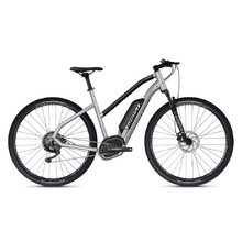"Women's Cross E-Bike Ghost Hybride Square Cross B2.9 Ladies 29"" – 2020 - Iridium Silver / Jet Black"