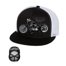 Snapback Hat BLACK HEART Bastard Bobber Trucker - White