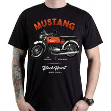 T-Shirt BLACK HEART Mustang - Black