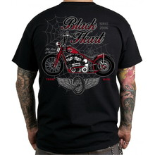 T-Shirt BLACK HEART Red Baron Chopper - Black