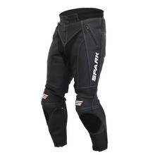 Men's Leather Moto Pants Spark ProComp - Black