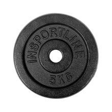 Steel Weight Plate inSPORTline Blacksteel 5 kg