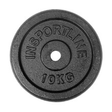 Steel Weight Plate inSPORTline Blacksteel 10 kg