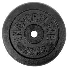 Steel Weight Plate inSPORTline Blacksteel 20 kg