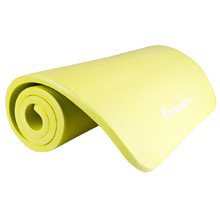 Exercise Mat inSPORTline Fity 140 x 61 cm - Green Yelow