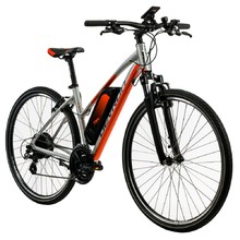"Women's Cross E-Bike Devron 28162 28"" – 2019 - Silver"