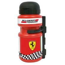 Plastic Cycling Bottle with Holder Ferrari