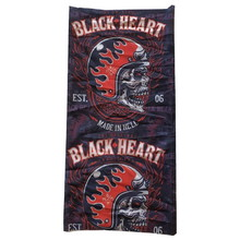 Neck Warmer Black Heart Hatter - Black-Red