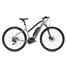 "Women's Cross E-Bike Ghost Hybride Square Cross B2.9 Ladies 29"" – 2019 - Iridium Silver / Jet Black"