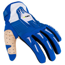 Motocross Gloves W-TEC Kozun - Blue-Beige
