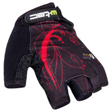 Women's Cycling Gloves W-TEC Mison - Black-Red