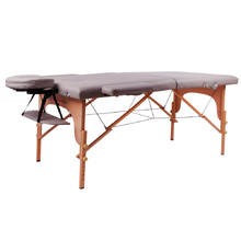 Massage Table inSPORTline Taisage 2-Piece Wooden - Grey