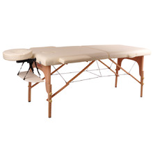 Massage Table inSPORTline Taisage 2-Piece Wooden - Cream Yellow
