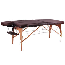 Massage Table inSPORTline Taisage 2-Piece Wooden - Brown