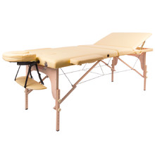 Massage Table inSPORTline Japane 3-Piece Wooden - Gold