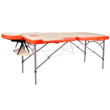Massage Table inSPORTline Tamati 2-Piece Aluminum - Orange