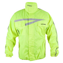 Moto Rain Jacket W-TEC Rainy - Fluo Yellow
